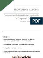 Conceptualizacion Basica de Organizacion de Congresos y Convenciones