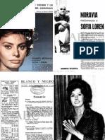 Alberto Moravia Psicoanaliza a Sofia Loren