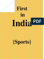 First in INDIA-Sports