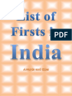 List of Firsts in India (Awards )
