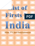 List of Firsts in India (Film, TV and Entertainment )