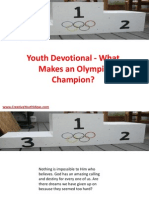 Youth Devotional - What Makes an Olympic Champion
