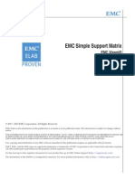 EMC XtremIO Simple Support Matrix