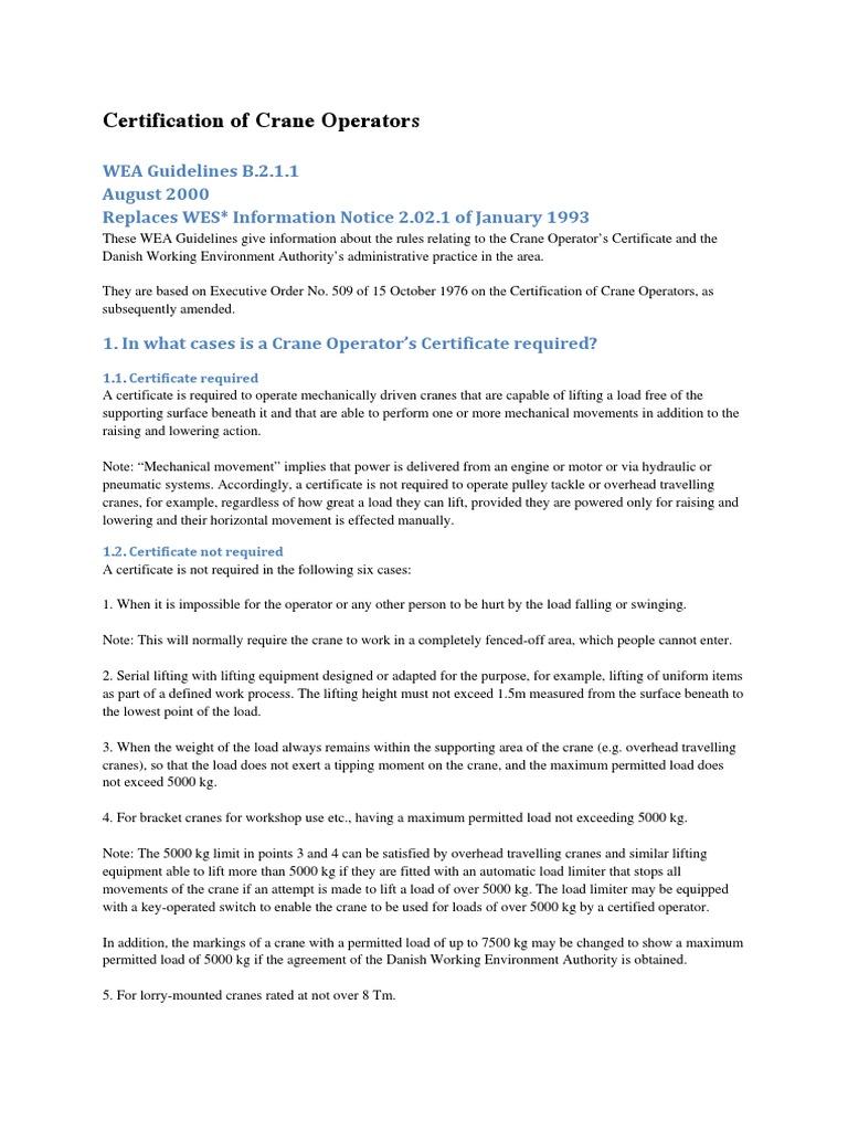 Certification of Crane Operators | Crane (Machine) (7 views)