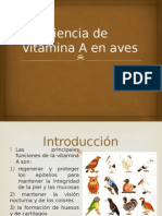 Deficiencia de Vitamina a en Aves