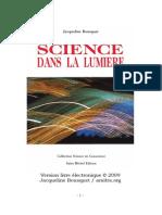 Bousquet Jacqueline - Science Dans La Lumiere
