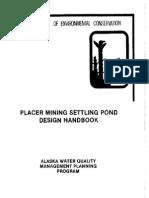Placer Mining Settling pond Design Hanbook.pdf