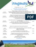 Itinerario Uruguay Vrs.Guatemala