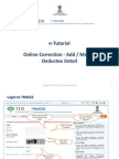 E-tutorial -Online Correction- Add & Modify Deductee Detail