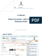 E-tutorial -Online Correction- Add & Modify Deductee Detail
