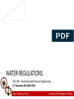 Lecture 06 - Water Regulations