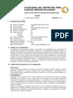 Silabus Operaciones Unitarias i1