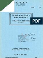Secret Intelligence Field Manual