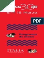 Programa de Mano FICG30