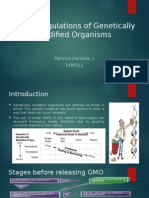 Safety Regulations of Genetically Modified Organisms
