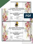 Kad Jemputan Majlis Anugerah Kecemerlangan UPSR 2014