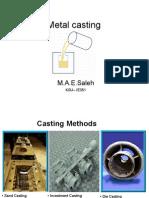 MC25 Lec 6 Metal Casting