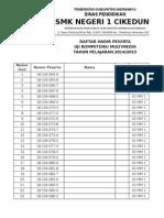 Daftar Hadir Uk Mm 2014-2015