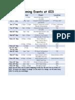 upcoming events at gis may 14th 2015