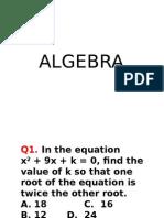 Algebra 4 Me