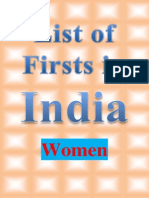 List of Firsts in India(Women)