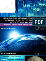 Influence of Storage Conditions on Survival of Selected Bacteria in Bottled Mineral Water