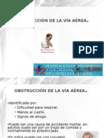 Obstrucción de la vía aérea adulto +pediatrico