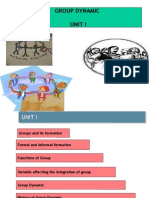 Unit I Group Dynamic Introduction New