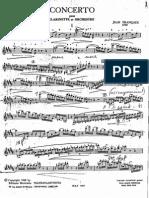 Concerto di Jean Francaix per Clarinetto e Orchestra