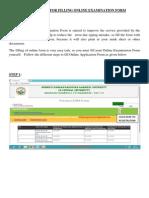 User Manual for Filling Online Examination Form