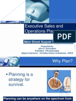 Executive Sales and Operations Planning