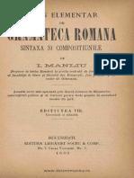 Curs Elementar de Gramatica Romana