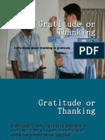 Gratitude or Thanking