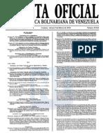 Sumario Gaceta Oficial 39.362