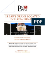 Is Báb's Grave Located in Haifa Israel?