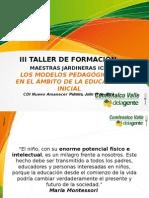 Presentación Taller ICBF Modelos Pedagógicos