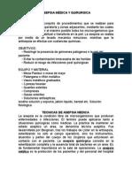 Asepsia Medica y Quirurgica Doc