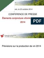 Diapos Conference de Presse OIV 23 Octobre 2014 FR