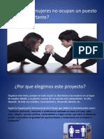 Presentacion Por Qué Las Mujeres No Ocupan Un Puesto Laboral Importante