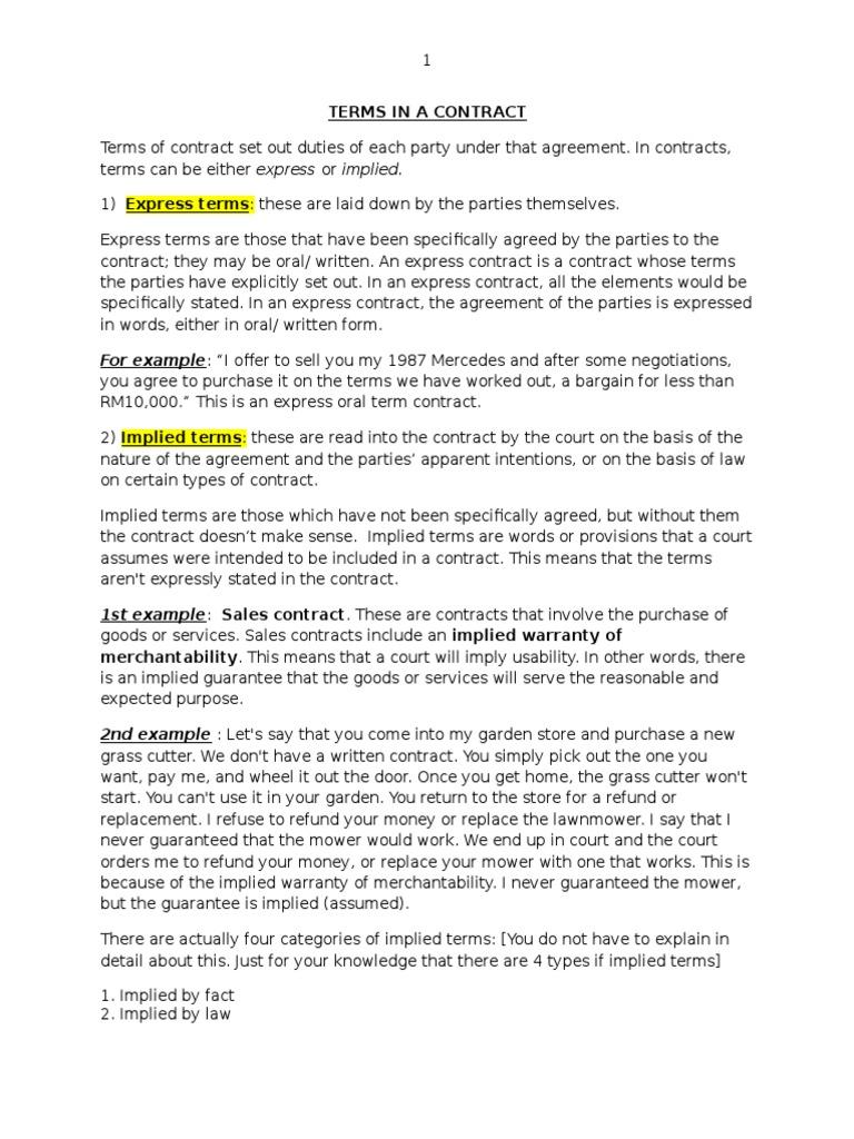 Terms Finalcx Contractual Term Breach Of Contract