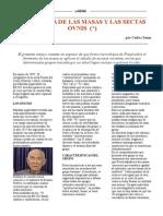 PSICOLOGIA DE LAS MASAS Y LAS SECTAS OVNIS
