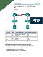 6.2.4.5 Lab - Configuracion de Rutas Estaticas y Predeterminadas IPv6