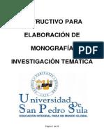 Elaboracion de Monografia Investigacion Tematica