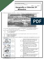 Prova de Geografia e Ciências 4º Ano 3º Bimestre Antônia