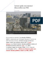 Perú es el tercer país con menor deuda pública sobre su PBI.docx