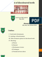 Management of Discoloured Teeth