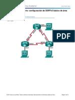 8.3.3.6 Lab - Configuracion de OSPFv3 Basico de Area Unica