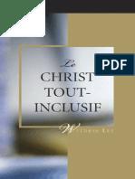 watchman Nee.Le Christ Tout Inclusif