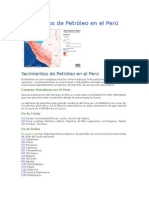 Yacimientos de Petroleo en Peru