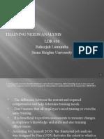 training needs analysis ppt